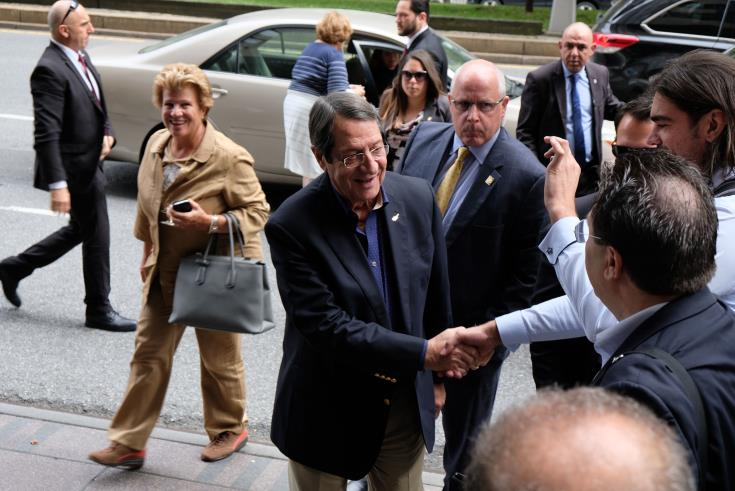 President Anastasiades underlines determination for resumption of Cyprus talks