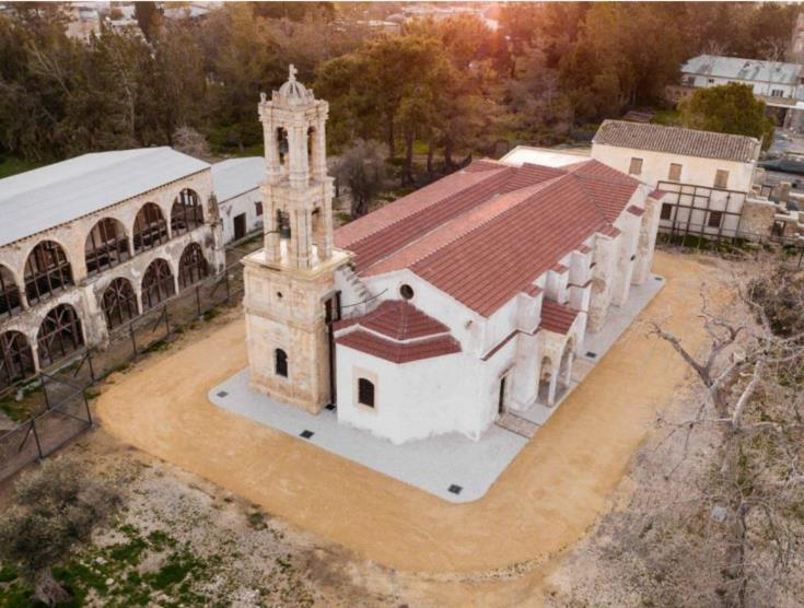 Community cleanup event at Turkish-occupied Ayios Panteleimonas Monastery