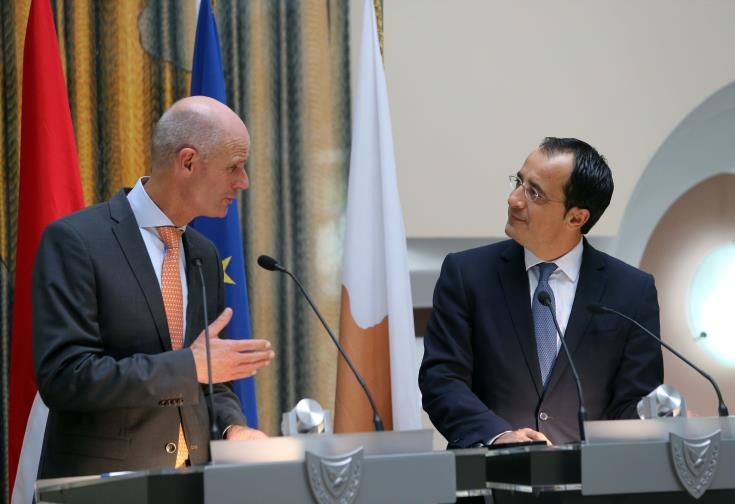 Dutch FM hopes for resumption of Cyprus talks