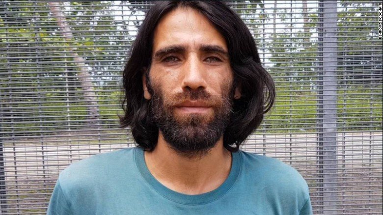 Detained refugee wins top Australian prize for book written on his phone