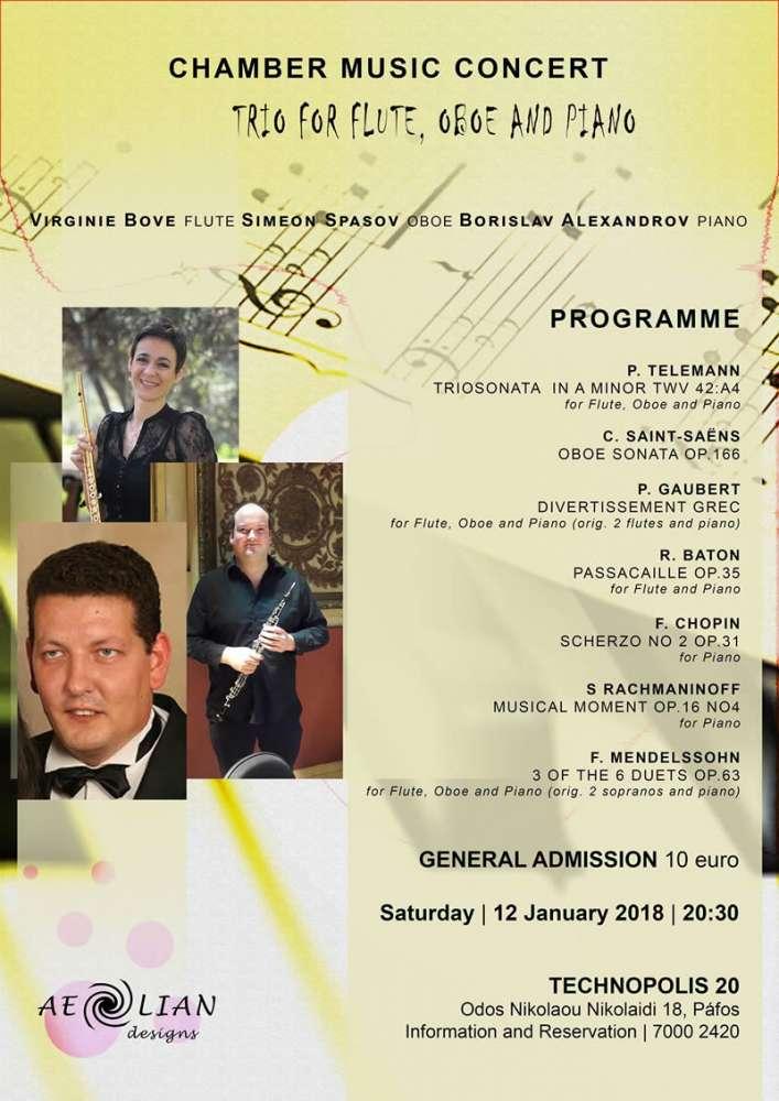 Chamber Music Concert: Trio for flute