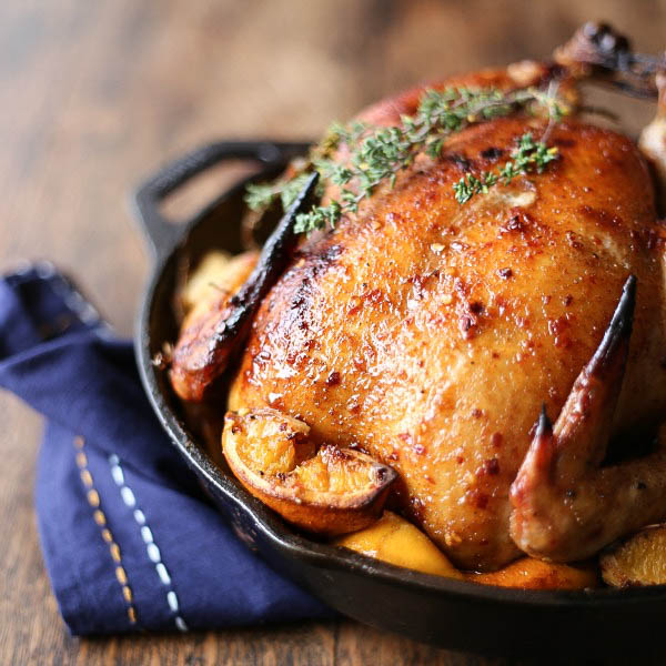 Chicken with orange and thyme