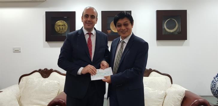 Chinese embassy donates €30