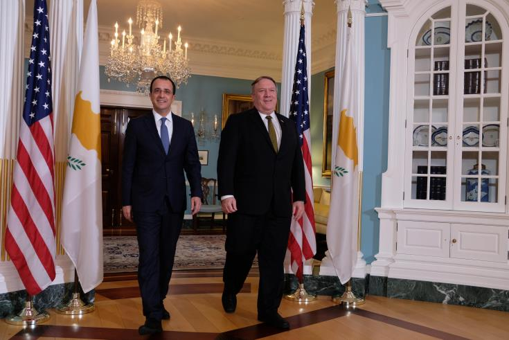 FM points out strengthening of security dimension between Cyprus and the U.S.