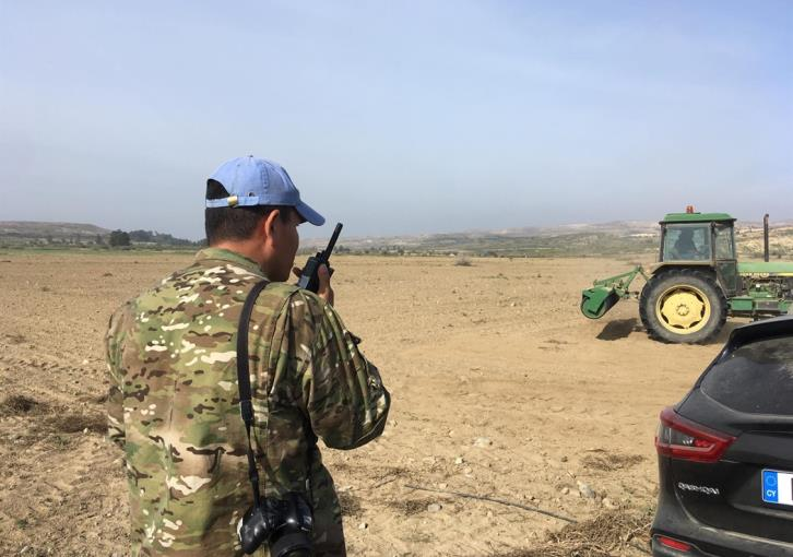 Tension again in buffer zone between G/C farmers and Turkish occupation forces (pictures+video)