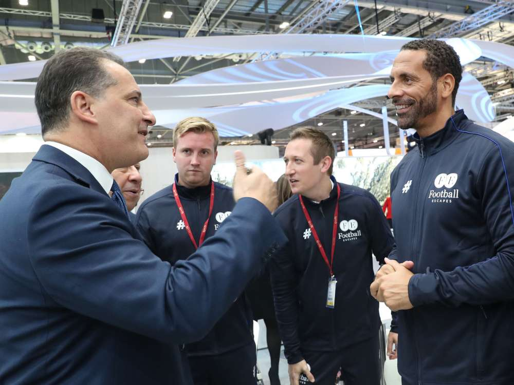 Tourism Minister meets with Rio Ferdinand