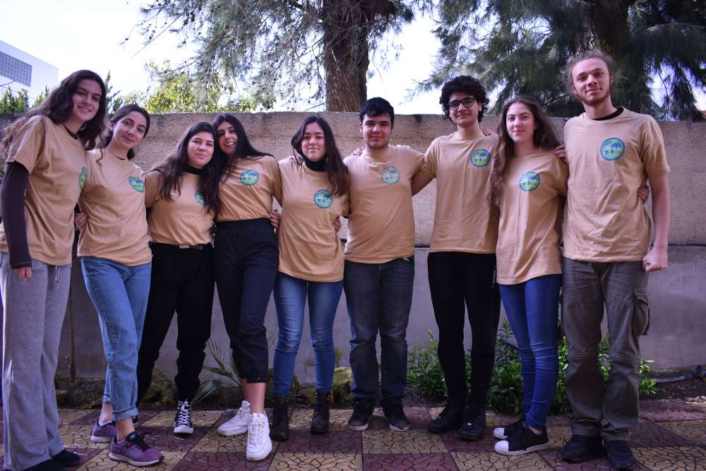 American Academy Nicosia student company Gaea does battle against plastic