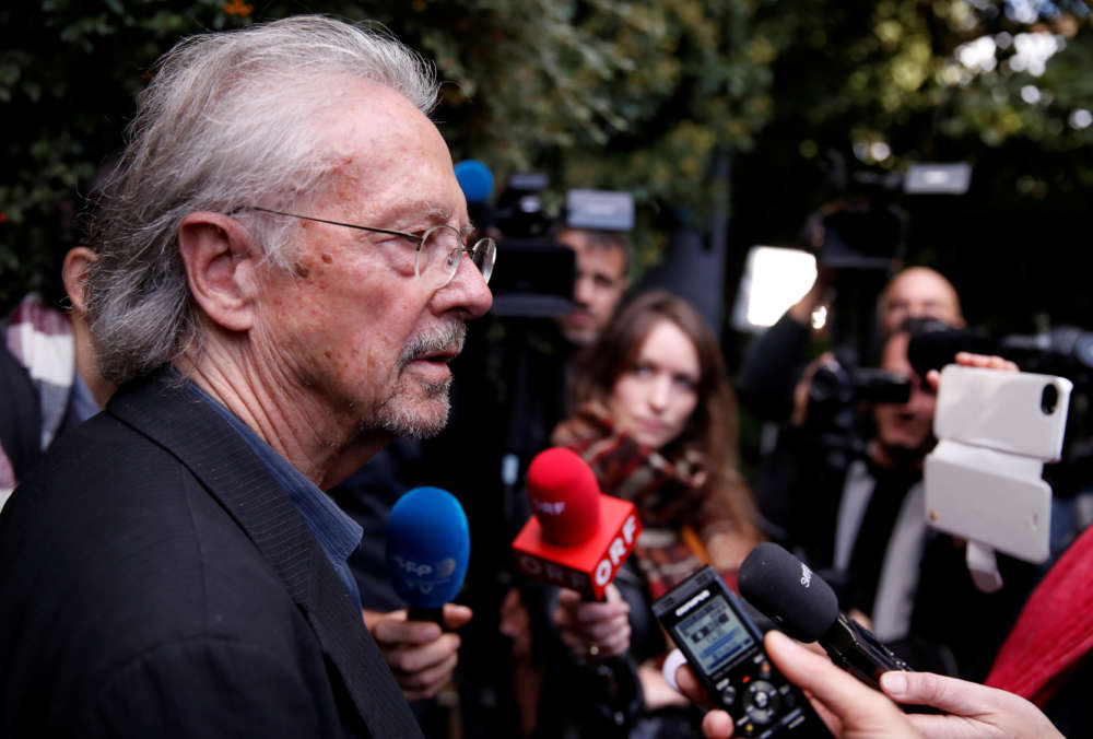 Nobel-winning author Handke declared