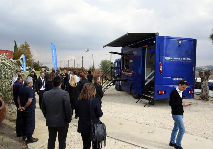 Hellenic Bank launches mobile banking units