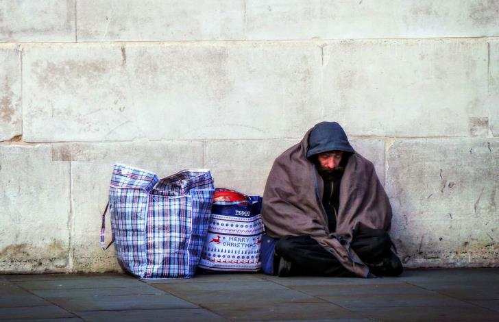 Sharp rise in number of homeless