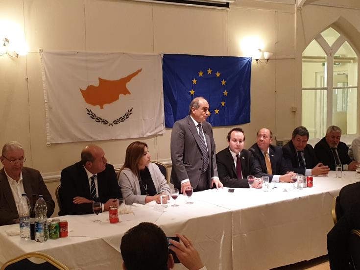 House President addresses UK Cypriots