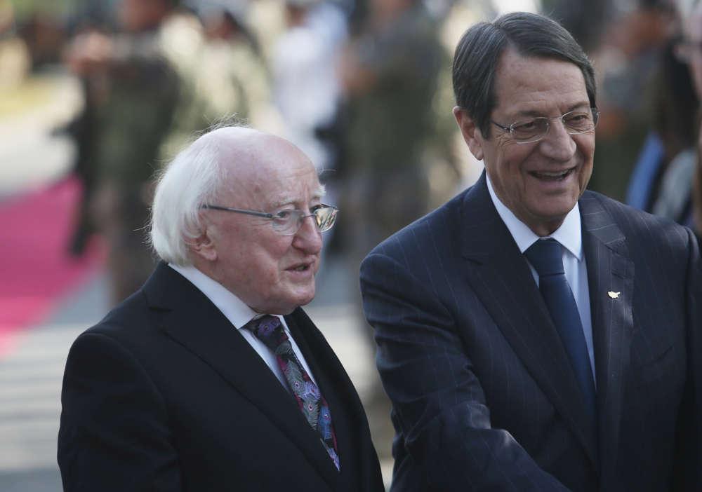 Irish President shares Cyprus' concern over Turkish drilling activities