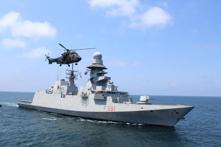 Italian Navy frigate in Larnaca
