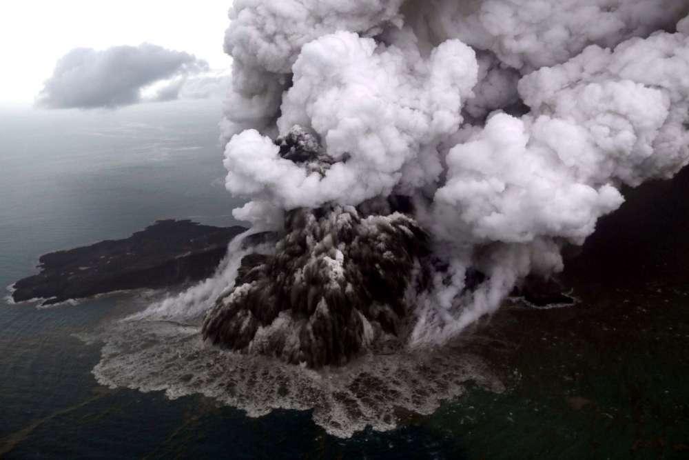 Indonesia orders flights to steer clear of erupting Anak Krakatau volcano