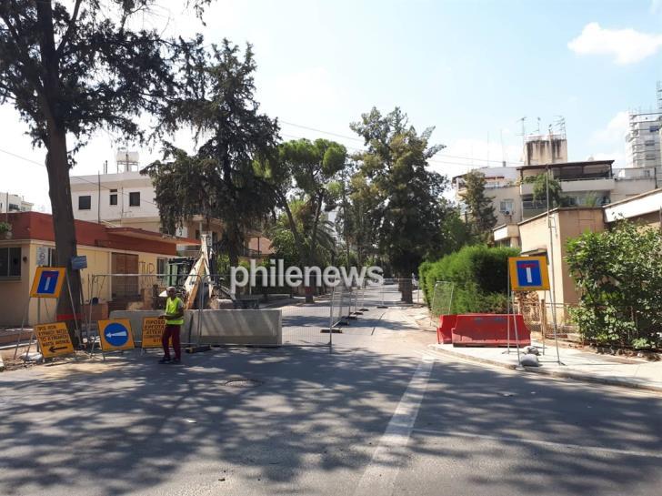 Reconstruction works begin at Kyriakos Matsis Avenue (photos & video)