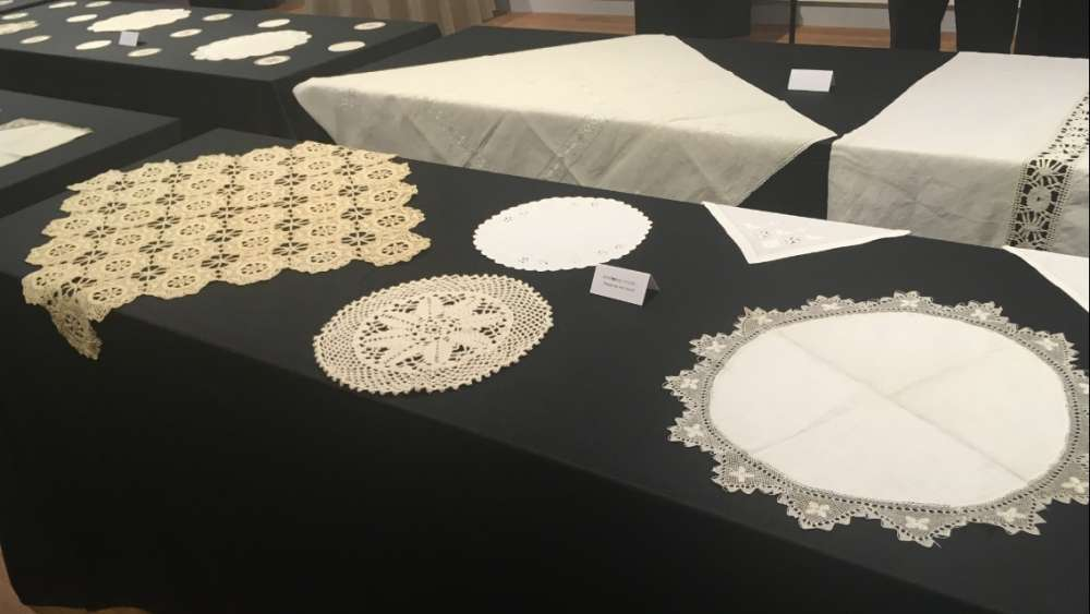 The Lefkara Laces exhibition presented in New York