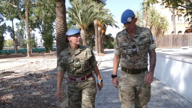British soldiers tie knot during Cyprus operational tour