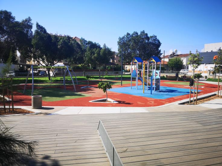 Limassol Mayor satisfied with new and upgraded park in Filellinon Street