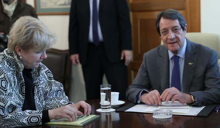 President Anastasiades meets with UN envoy