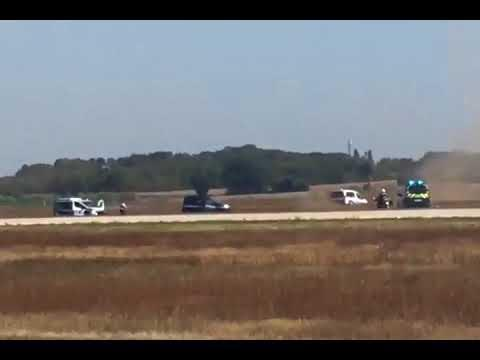 Police chase shuts down France's Lyon airport runway (video)