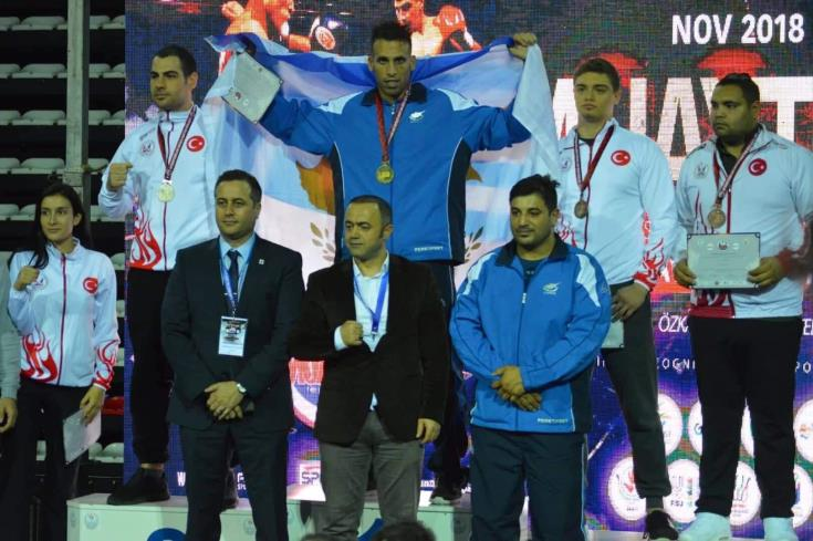 Cypriot athelete wins gold medal in Muay Thai games in Turkey