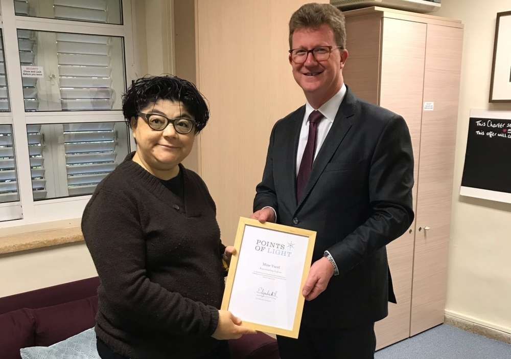 Cypriot woman receives Commonwealth Point of Light for work against human trafficking