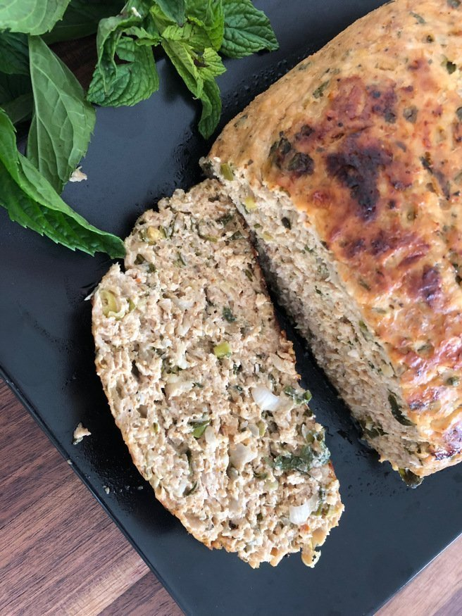 Moist Chicken Loaf with Halloumi