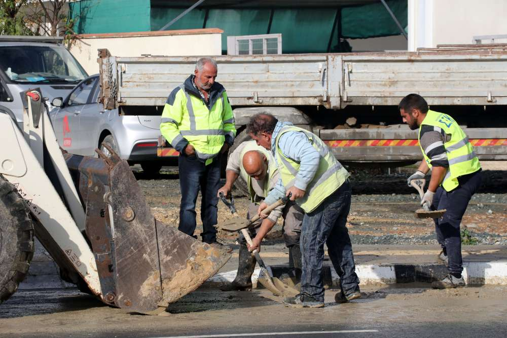 Nicosia cleans up after overnight downpour