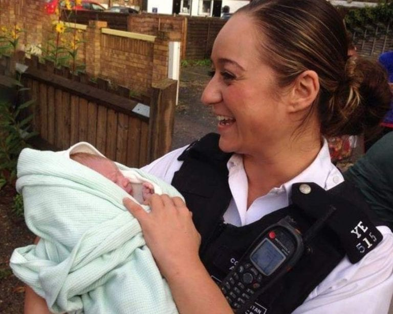 UK Cypriot police officer makes a 'special delivery' in Enfield