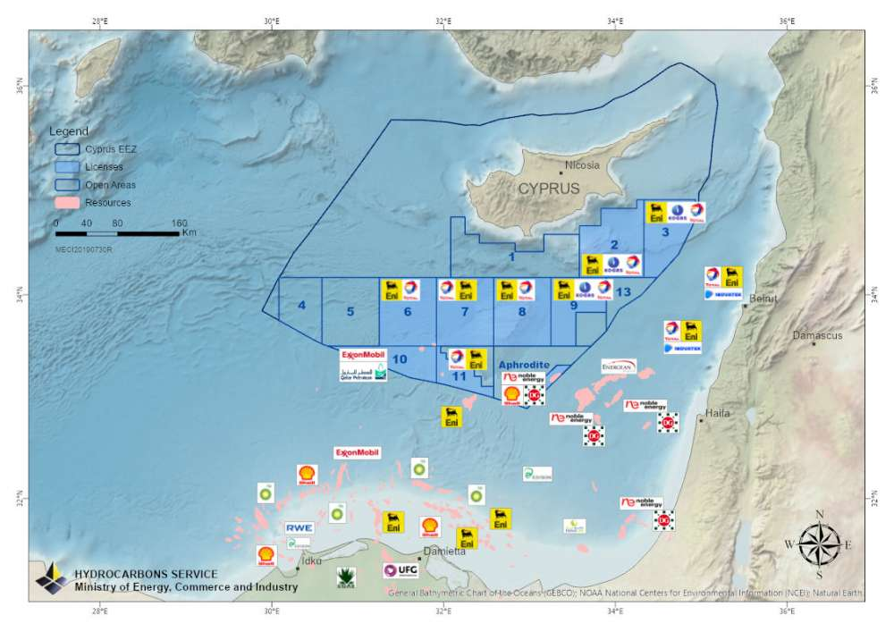 Diplomatic actions to protest Turkey's new illegal activities in Cyprus' EEZ