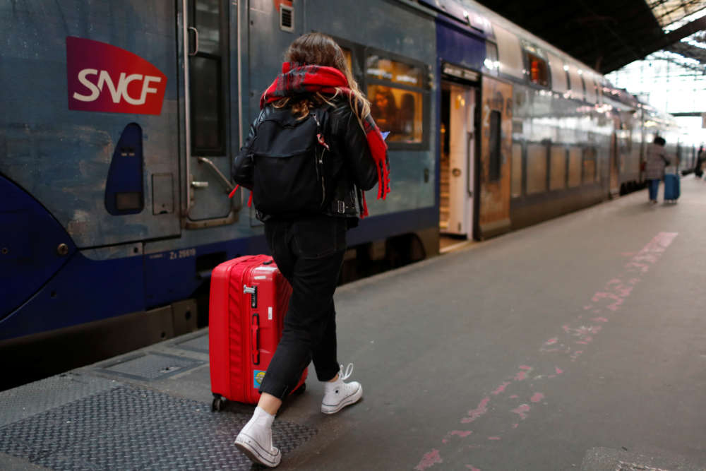 French travellers face train disruption as pension strikes go on