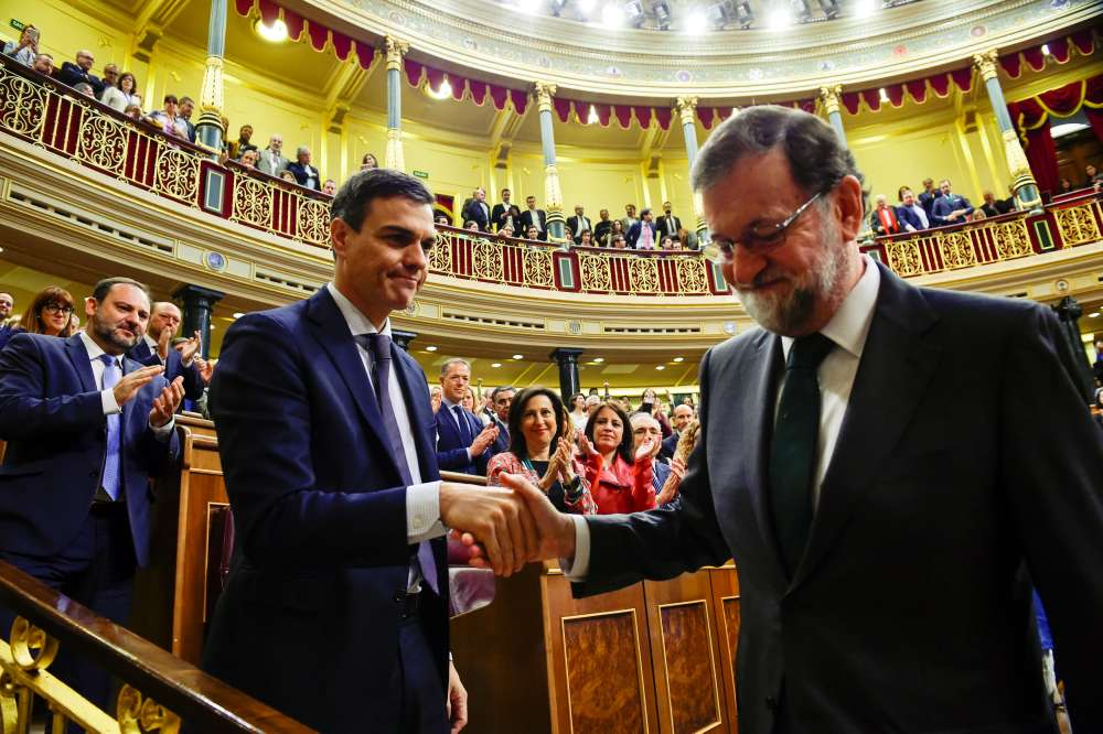 Spanish Socialist Sanchez succeeds Rajoy as PM