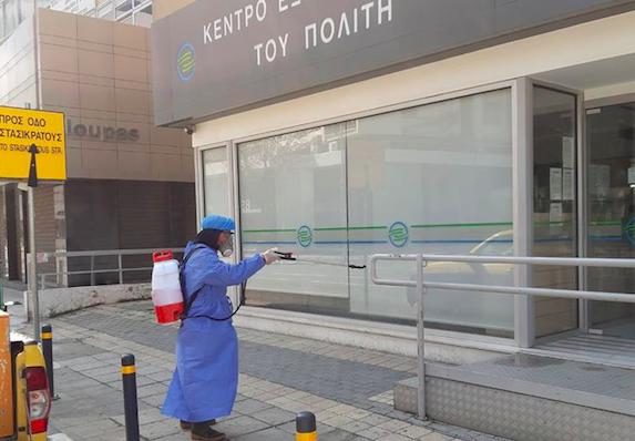 Coronavirus: Nicosia Municipality disinfects public areas (photos)