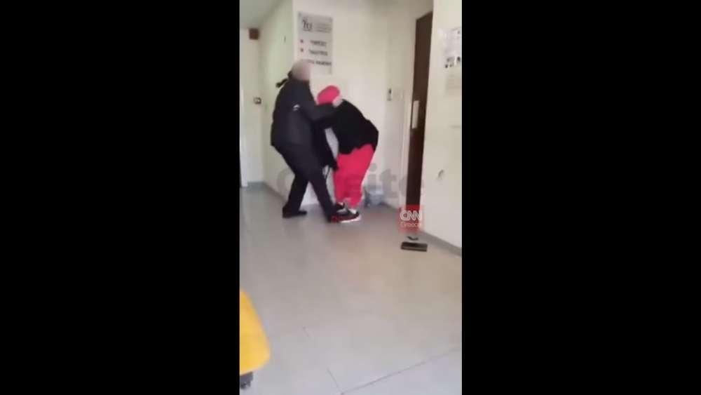 Man filmed assaulting woman in welfare office (video)