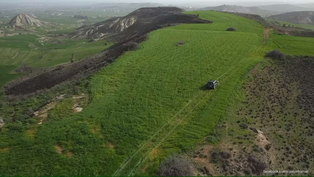 Cyprus or Ireland? Rainfall turns Cyprus green (video)
