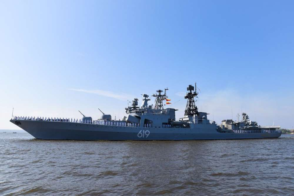Russian Severomorsk large anti-submarine ship docks at Limassol