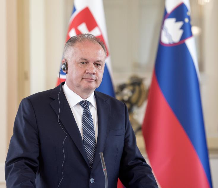 Slovak President says his country will continue the same policy on Cyprus problem
