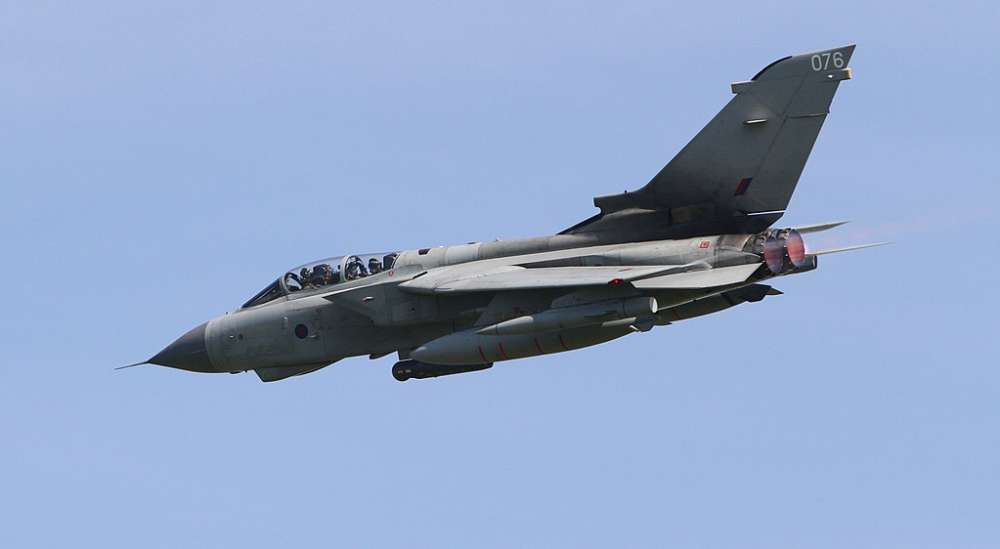 British forces in Cyprus bid farewell to the Tornado GR4 jet (video)