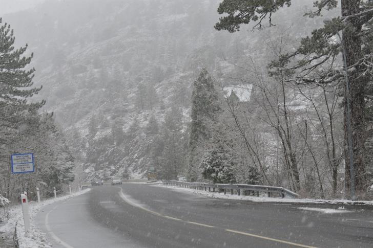Troodos mountain roads still slippery