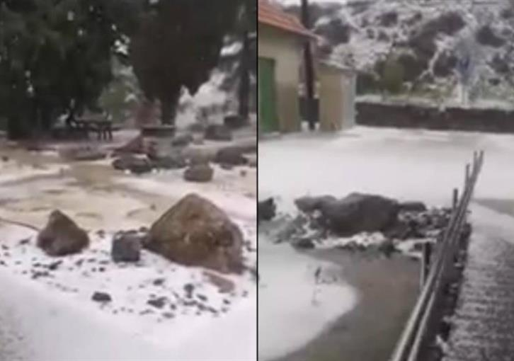Heavy rain and hail in mountains
