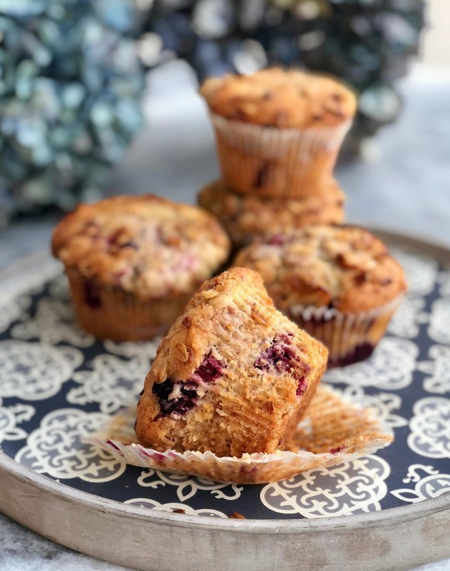 Very Berry Muffins with Granola