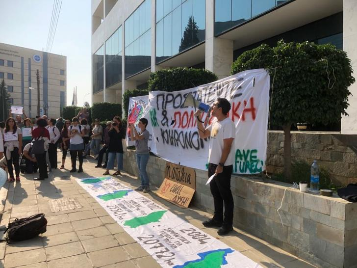 Protest against Akamas fires (pictures & videos)