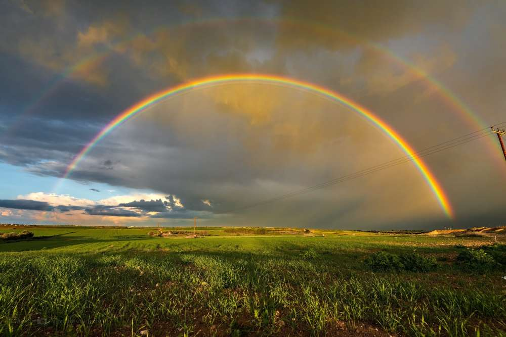 Beautiful pictures of rainbows all over Cyprus