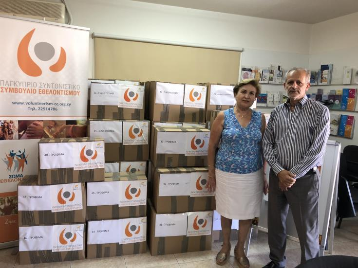 Volunteerism Council sends humanitarian aid to fire-stricken residents of Attica