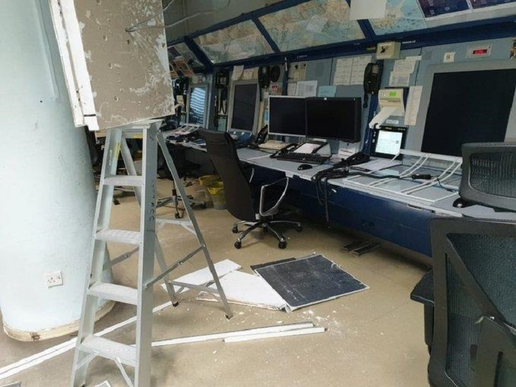 Operator injured after Nicosia Flight Control Centre ceiling collapses (photo)