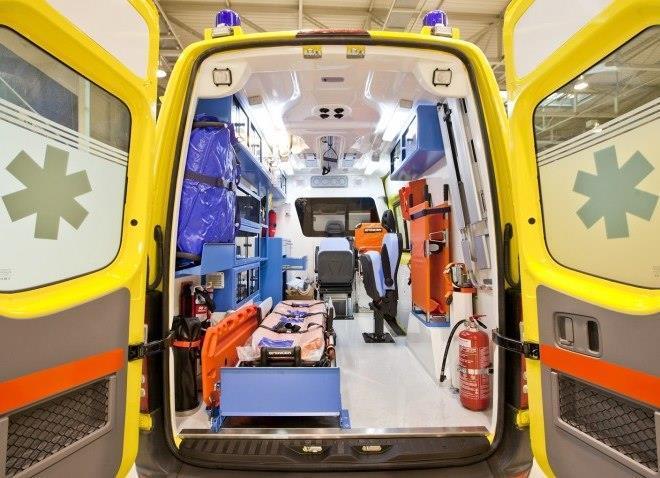 Male driver in intensive care