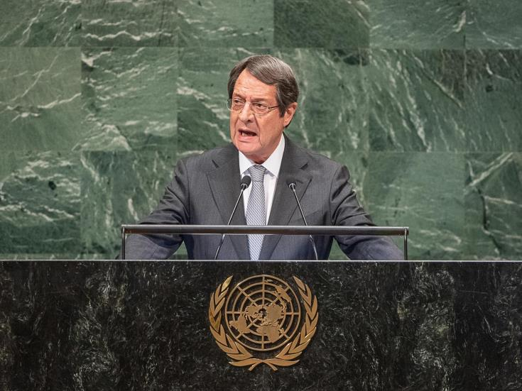 Cyprus President expected to express readiness for resumption of negotiations during speech before the UNGA