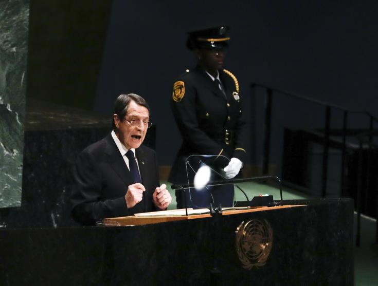 President Anastasiades informs P5 of Cyprus' intention to resort to SC