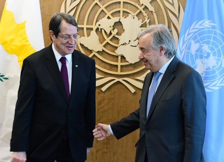 President Anastasiades to meet UNSG Antonio Guterres in New York