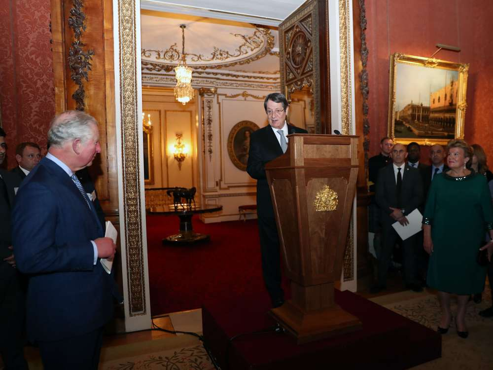 Anastasiades attends Buckingham Palace reception to celebrate Cyprus-UK ties (photos+video)
